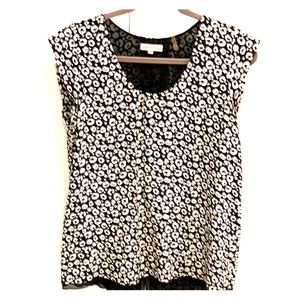 Rebecca Taylor silk top with leopard print!